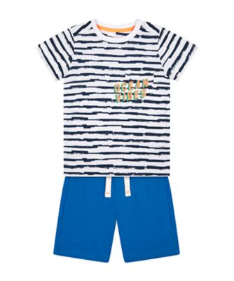 Mothercare Dream Surfer Ocean Vibes Stripe T-Shirt And Shorts Set
