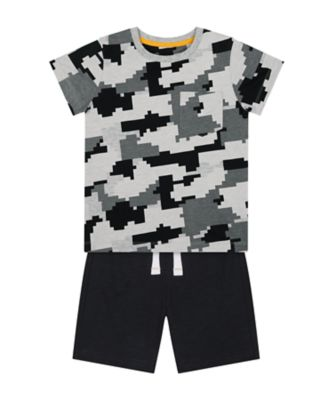 Mothercare Urban Tropics Pixelated T-Shirt And Shorts Set