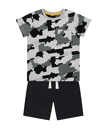 Mothercare Pixelated T-Shirt And Shorts Set