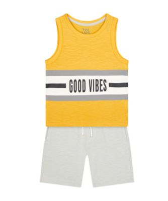 Mothercare Urban Tropics Good Vibes Vest Promo Set