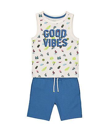 Mothercare Fashion Good Vibes Vest And Shorts Set