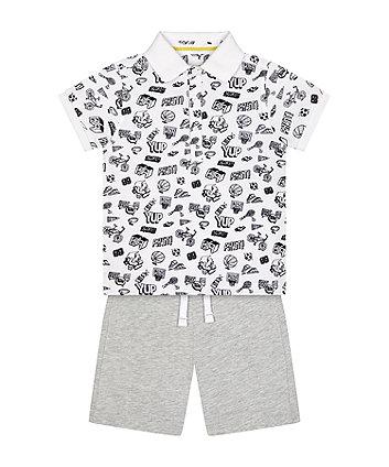 Mothercare Polo Shirt And Shorts Set