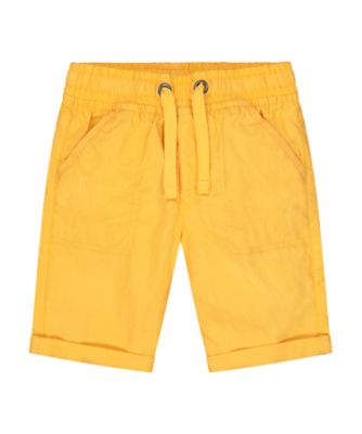 Mothercare Urban Tropics Yellow Cotton Poplin Shorts