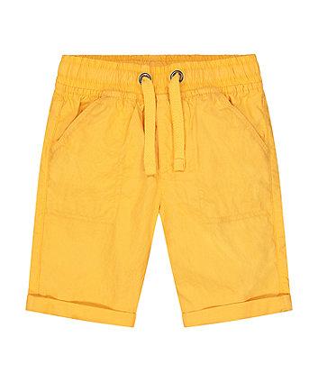Mothercare Yellow Poplin Shorts