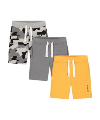 Mothercare Urban Tropics Yellow And Grey Shorts - 3 Pack