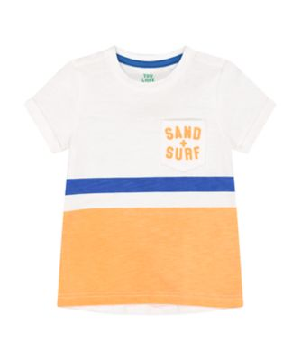 Mothercare Dream Surfer Sand And Surf Pocket Short Sleeve T-Shirt