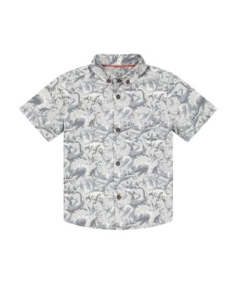 Mothercare Easy Vibes Grey Dinosaur Short Sleeve Shirt
