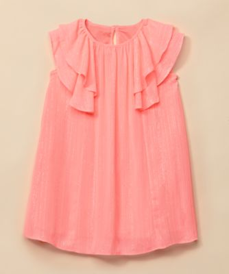Mothercare Special Collection Coral Chiffon Sparkle Occasion Dress