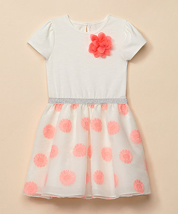 Mothercare Floral Organza Twofer Occasion Dress