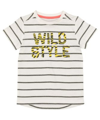 Mothercare Be Wild Style Stripe Short Sleeve T-Shirt