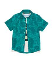 Mothercare Green Palm Shirt And T-Shirt Set