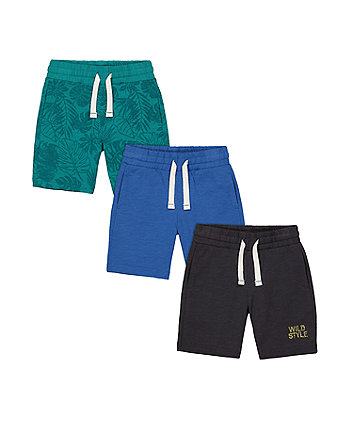Mothercare Wild Style Shorts - 3 Pack