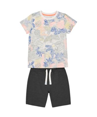 Mothercare Be Wild Multi Allover Print T-Shirt And Short Promo Set