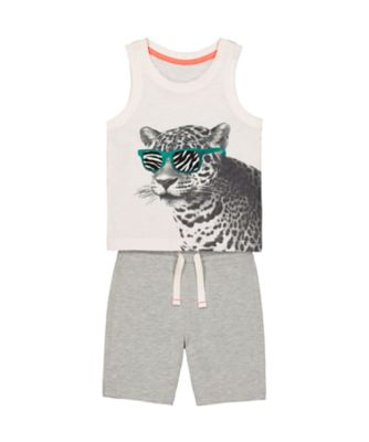Mothercare Be Wild Leopard Vest And Short Promo Set
