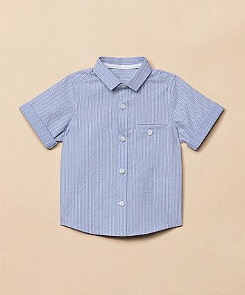 Blue Pattern-Stripe Shirt [SS21]