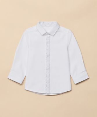 Mothercare Special Collection AW White Splat Tipping Long Sleeve Shirt