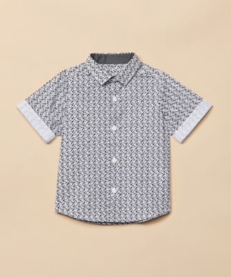 Mothercare Special Collection AW Dark Floral Print Short Sleeve Shirt
