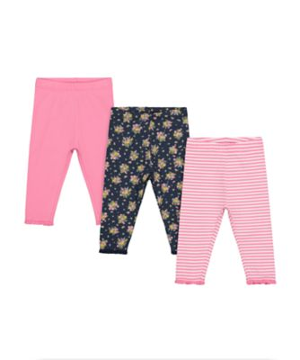Mothercare Gypsy Flower Ditsy Print, Stripe And Pink Legging - 3 Pack