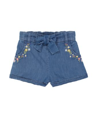 Mothercare Gypsy Flower Embroideried Denim Short