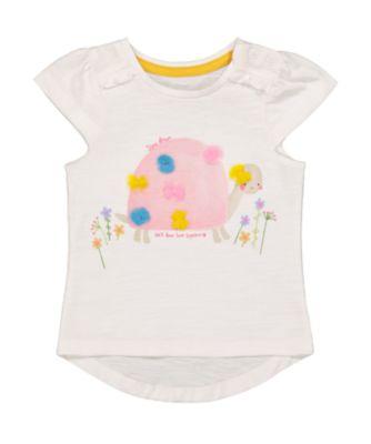 Mothercare Gypsy Flower White Tortoise Short Sleeve T-Shirt