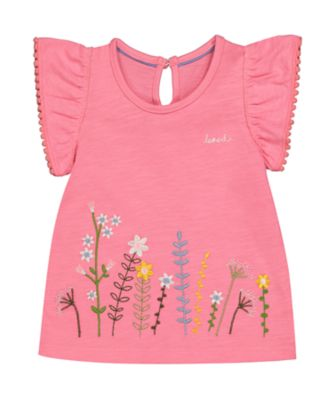 Mothercare Gypsy Flower Pink Flower Short Sleeve T-Shirt
