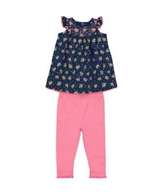 Mothercare Gipsy Flower Ditsy Dress And Legging Set