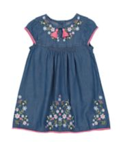 Mothercare Denim Embroidered Dress