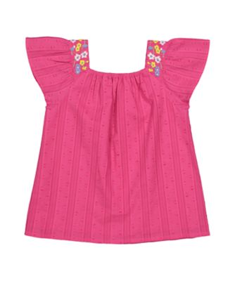 Mothercare Oriental Bloom Pink Dobby Blouse