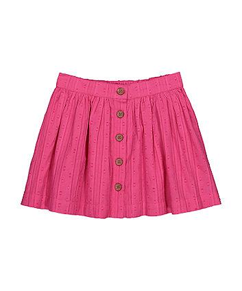 Mothercare Pink Dobby Skirt