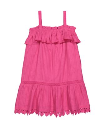 Mothercare Oriental Bloom Pink Frill Strappy Dress