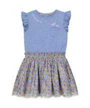 Mothercare Ditsy Floral Twofer Dress