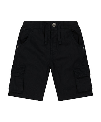 Mothercare Black Cargo Shorts