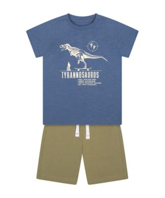 Mothercare Easy Vibes Tyrannosaurus T-Shirt And Shorts Set