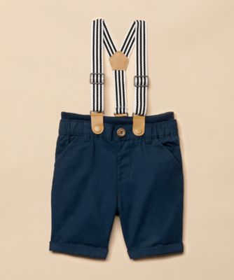 Mothercare Special Collection Navy Twill Shorts with Braces