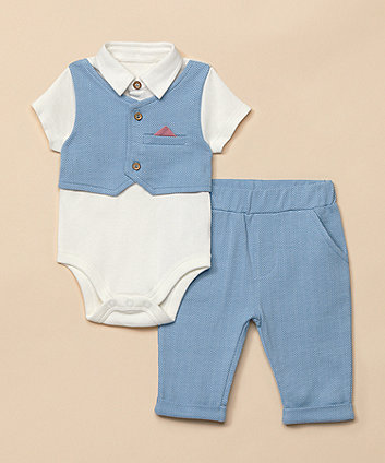 Mothercare Trouser And Waistcoat Bodysuit Set