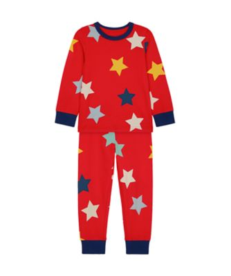 Mothercare Boys Red Multi Star Epp Pyjamas