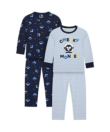 Mothercare Cheeky Monkey Pyjamas - 2 Pack
