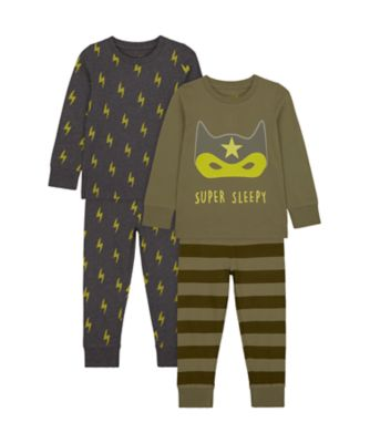 Mothercare Boys Super Sleep Pyjamas - 2 Pack
