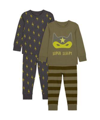 Mothercare Boys Super Sleep Pyjamas - 2 Pack