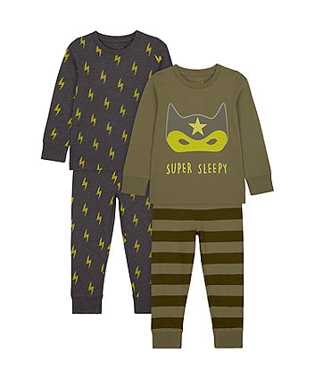 Mothercare Super Sleepy Pyjamas - 2 Pack