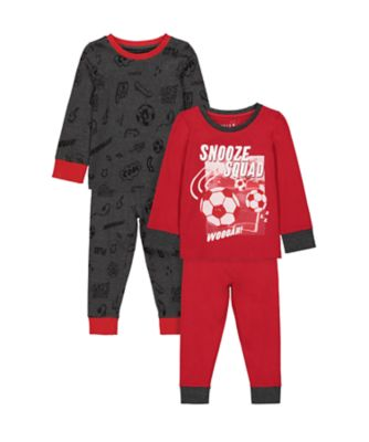 Mothercare Boys Snooze Squad Pyjamas - 2 Pack