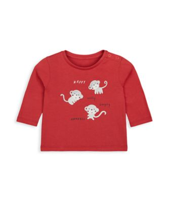 Mothercare Boys Monkey Uber Long Sleeve T-Shirt