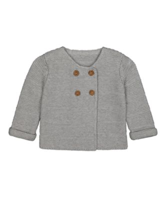 Mothercare Boys Monkey Grey Statement Knitted Cardigan