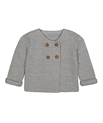 Mothercare Grey Knitted Cardigan