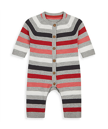Mothercare Striped Knitted All In One
