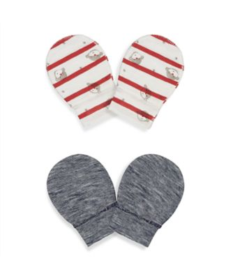 Mothercare Boys Monkey Il Mitts - 2 Pack