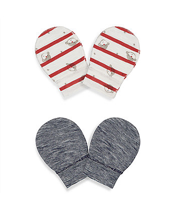 Mothercare Little Monkey Mitts - 2 Pack