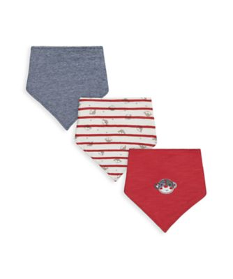 Mothercare Boys Monkey Bibs - 3 Pack