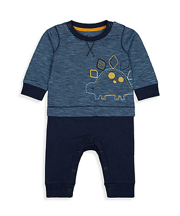 Mothercare Dinosaur Mock Trouser And Top All In One