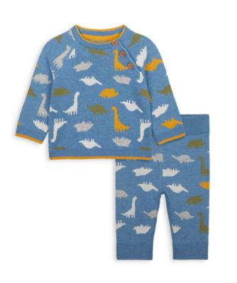 Mothercare Autumn Dino Knitted Dinosaur - 2 Piece Set